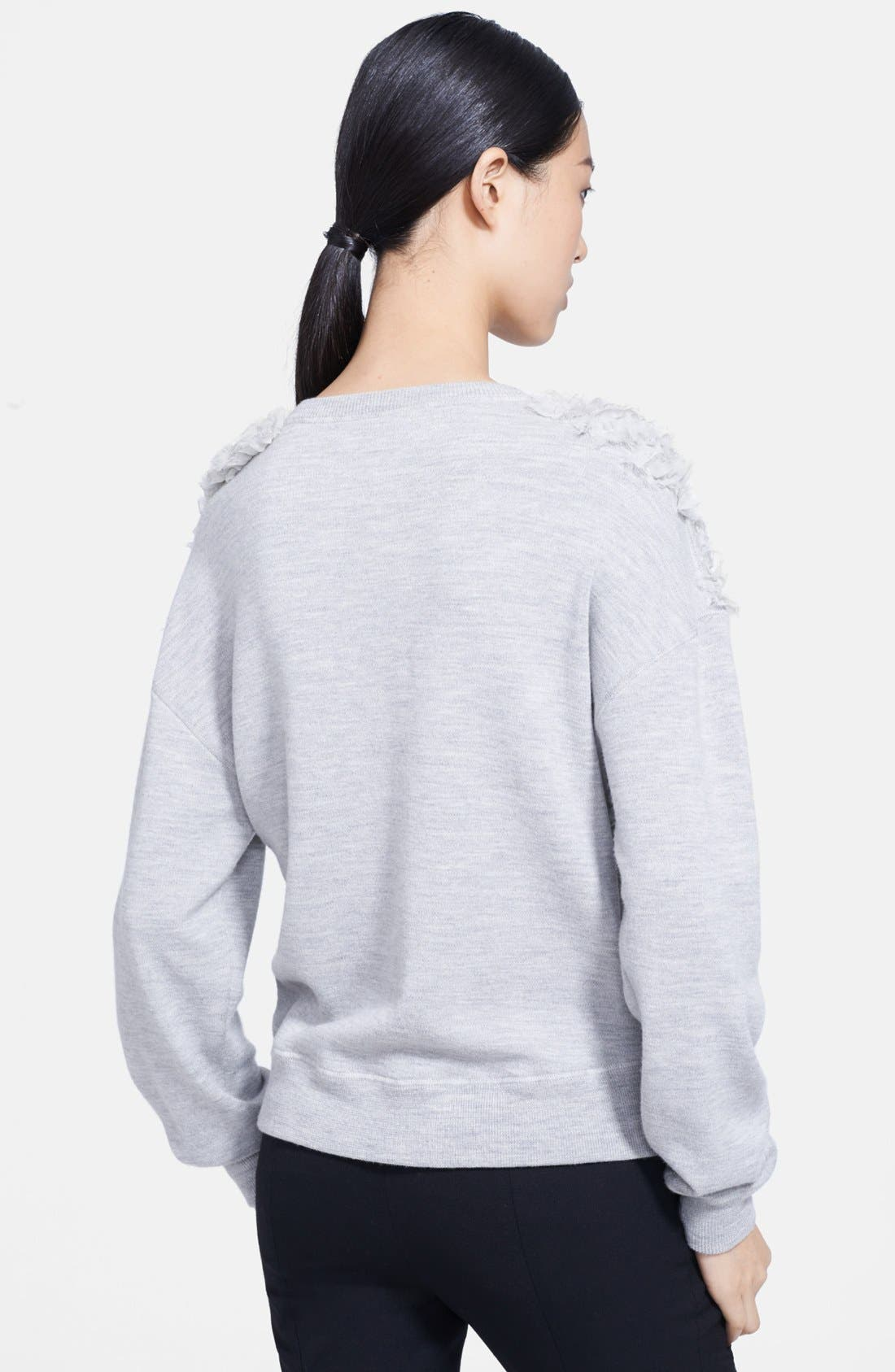 Alternate Image 2  - Jason Wu Chiffon Appliqué Sweatshirt