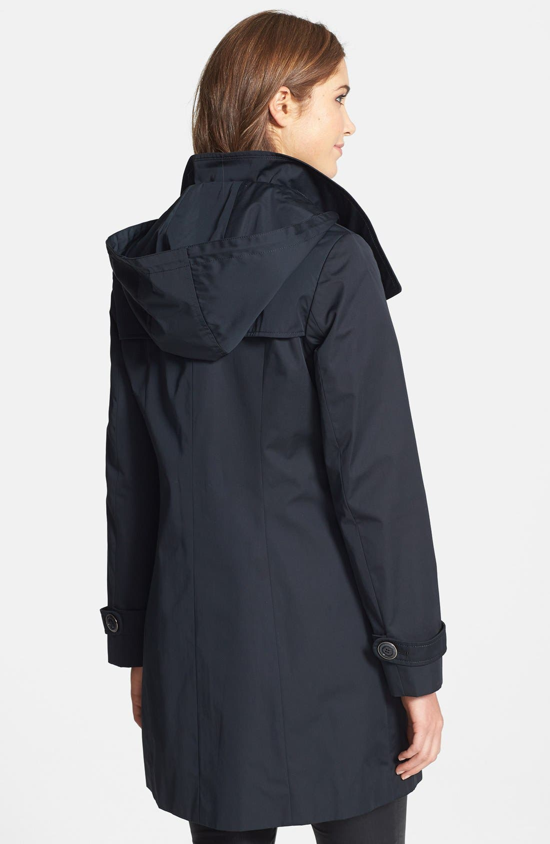 Alternate Image 3  - Ellen Tracy Double Breasted Raincoat (Online Only)