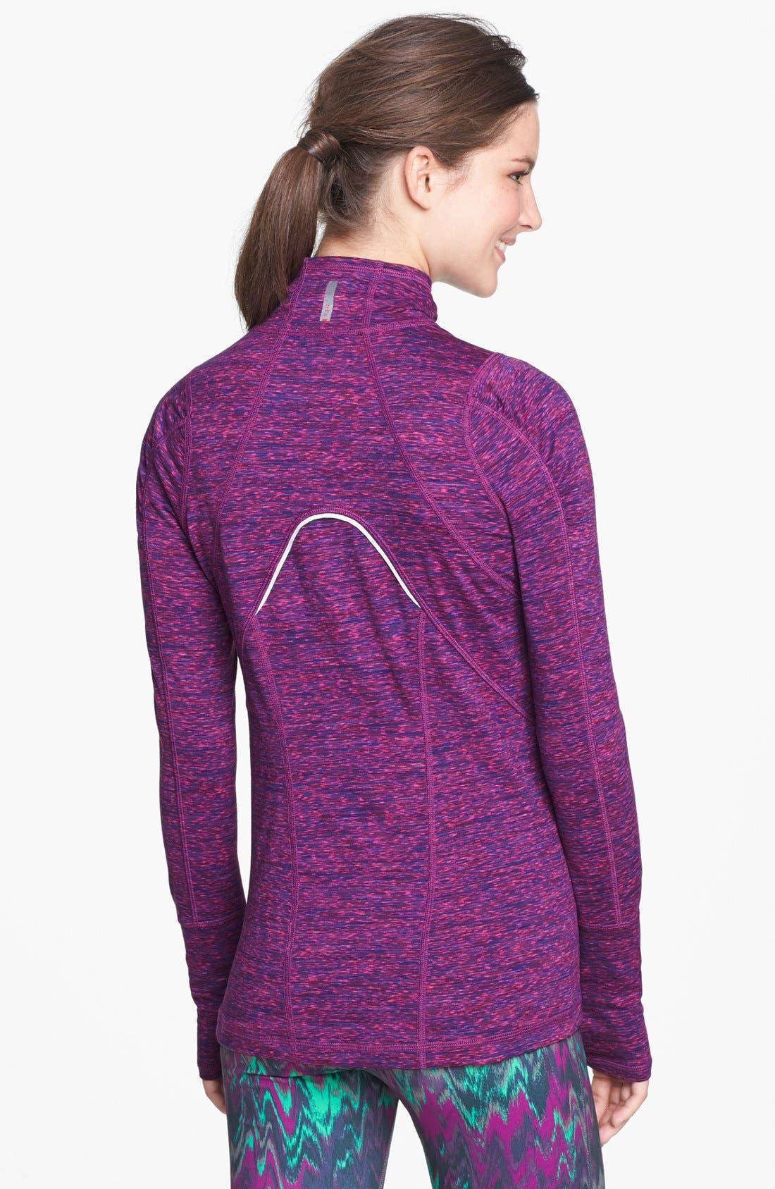 Alternate Image 2  - Zella 'Good Sport' Space Dye Half Zip Pullover