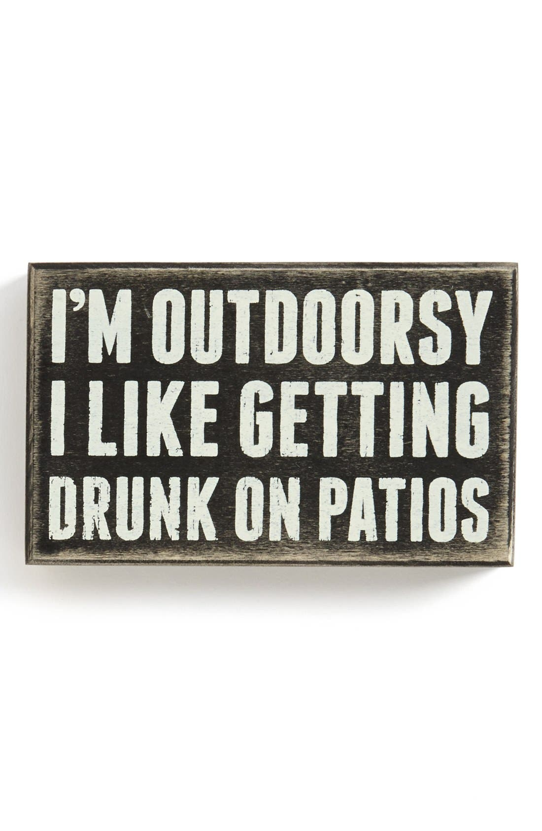 Alternate Image 1 Selected - Primitives by Kathy 'I'm Outdoorsy' Box Sign