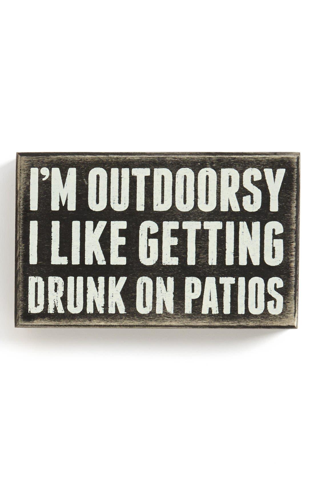 Main Image - Primitives by Kathy 'I'm Outdoorsy' Box Sign