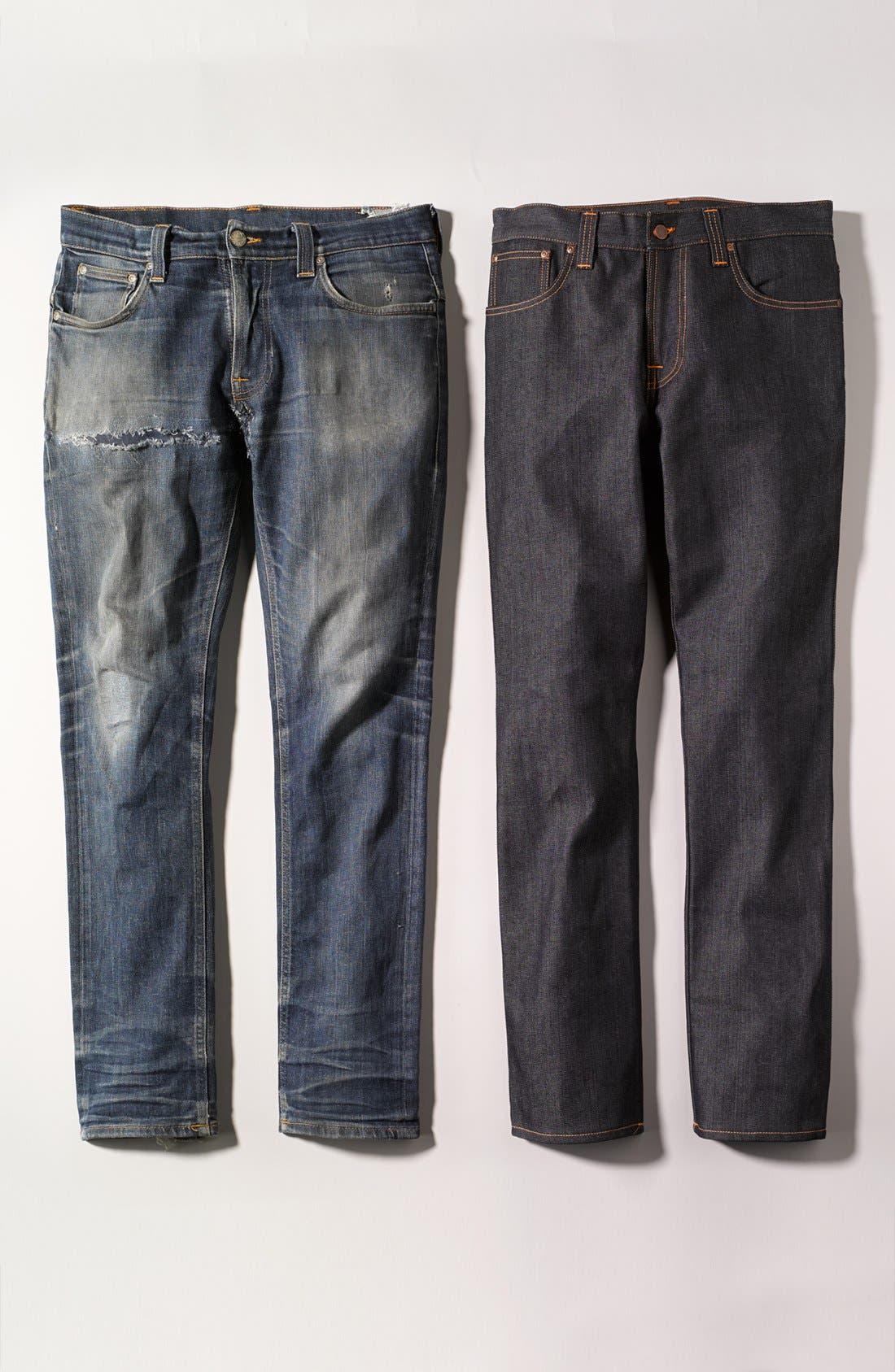 Alternate Image 5  - Nudie 'Grim Tim' Slim Fit Jeans (Organic Dry Navy)