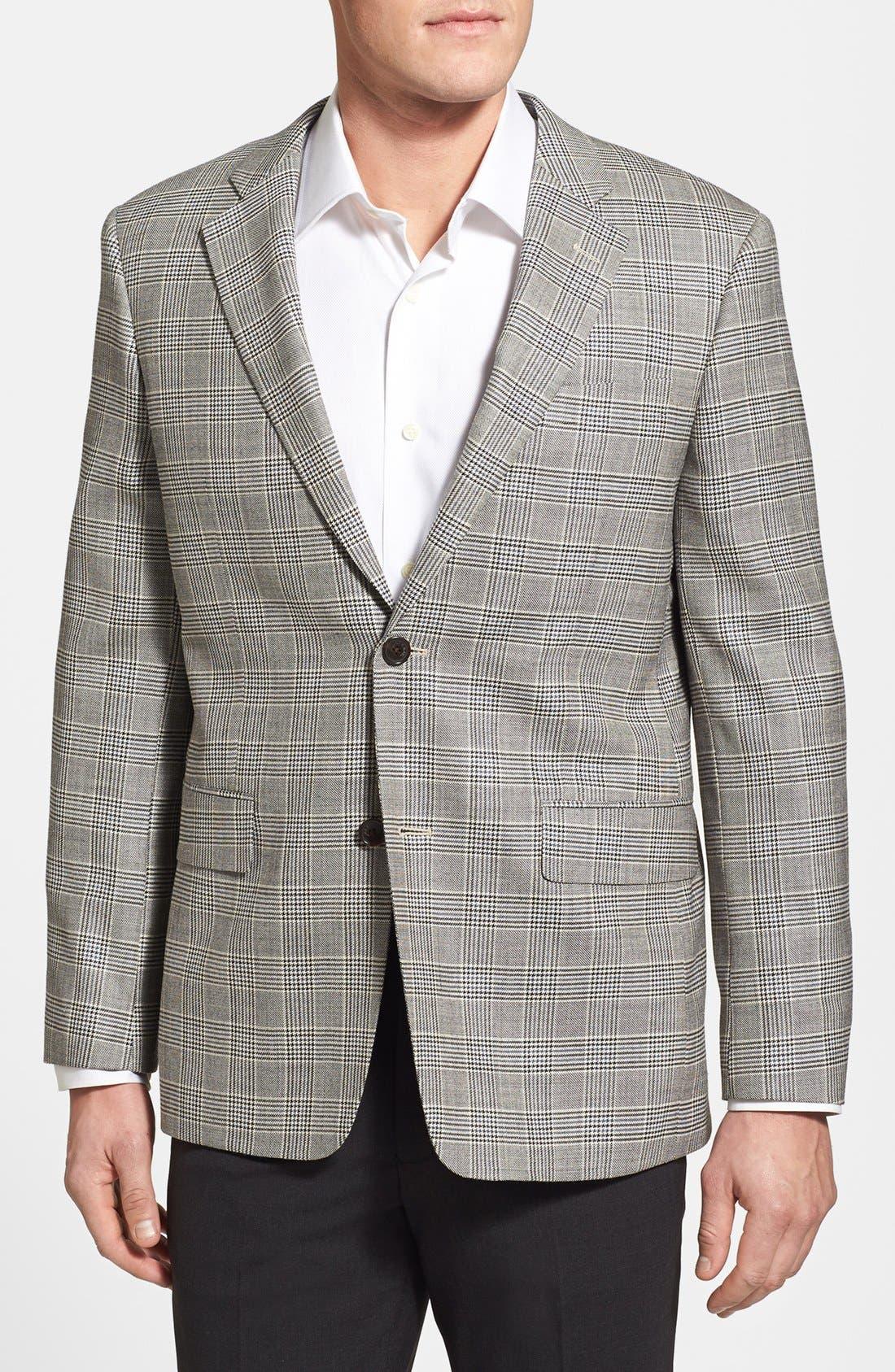 Main Image - John W. Nordstrom® Classic Fit Silk & Wool Sportcoat