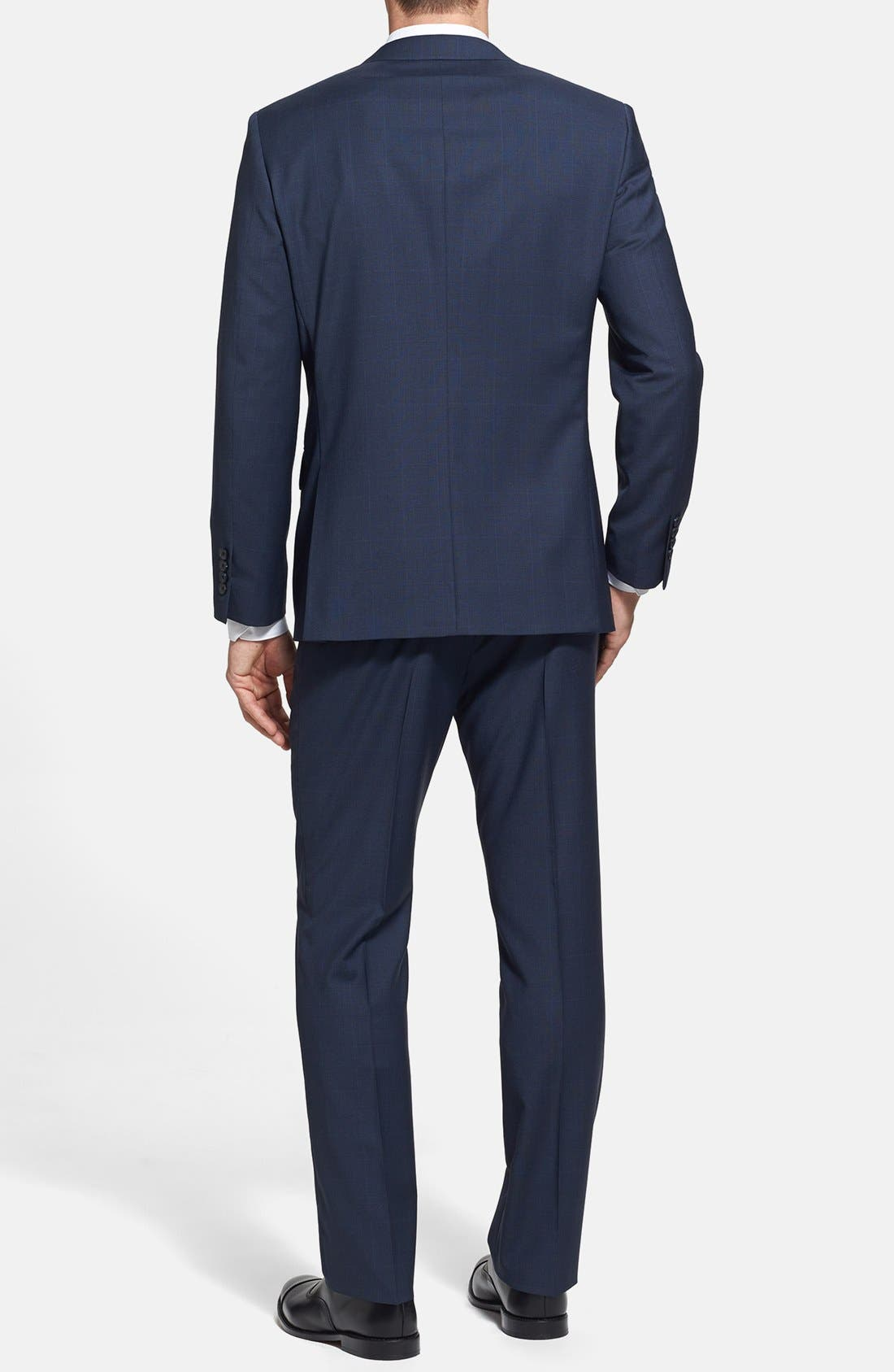 Alternate Image 2  - John W. Nordstrom® Classic Fit Windowpane Wrinkle Free Travel Suit