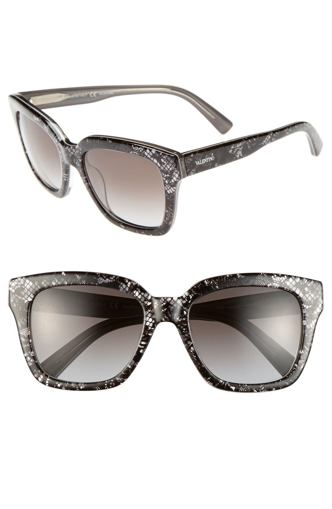 Alternate Image 1 Selected - Valentino 52mm Retro Sunglasses