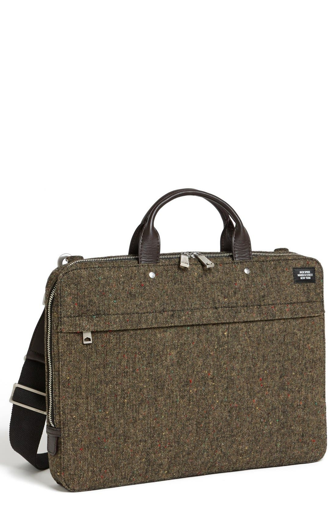Main Image - Jack Spade Donegal Tweed Slim Wool Briefcase