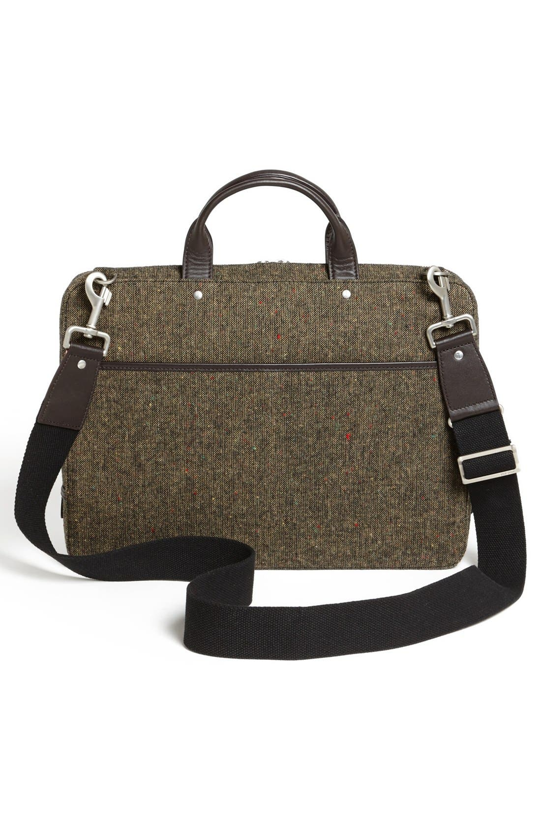 Alternate Image 2  - Jack Spade Donegal Tweed Slim Wool Briefcase