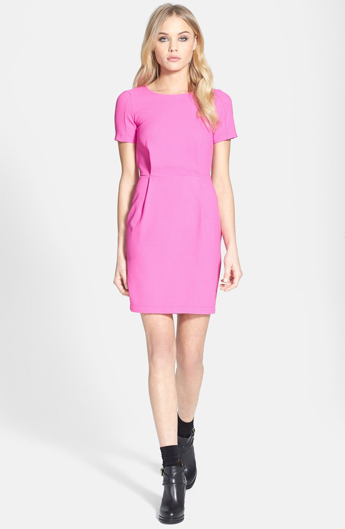 Alternate Image 1 Selected - Topshop 'Elfin' Crepe Dress