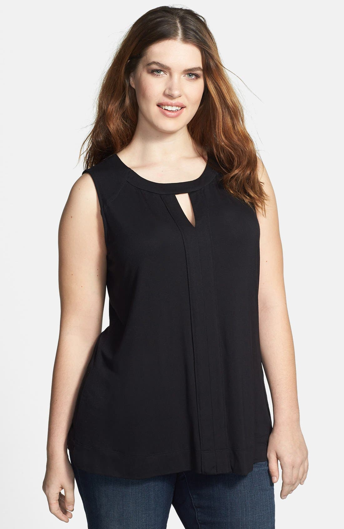 Alternate Image 1 Selected - Sejour Cutout Shell (Plus Size)