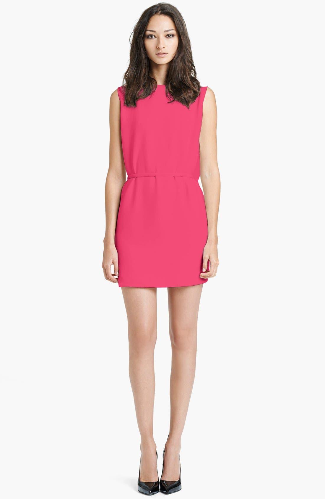 Alternate Image 1 Selected - Saint Laurent Belted Cady Dress