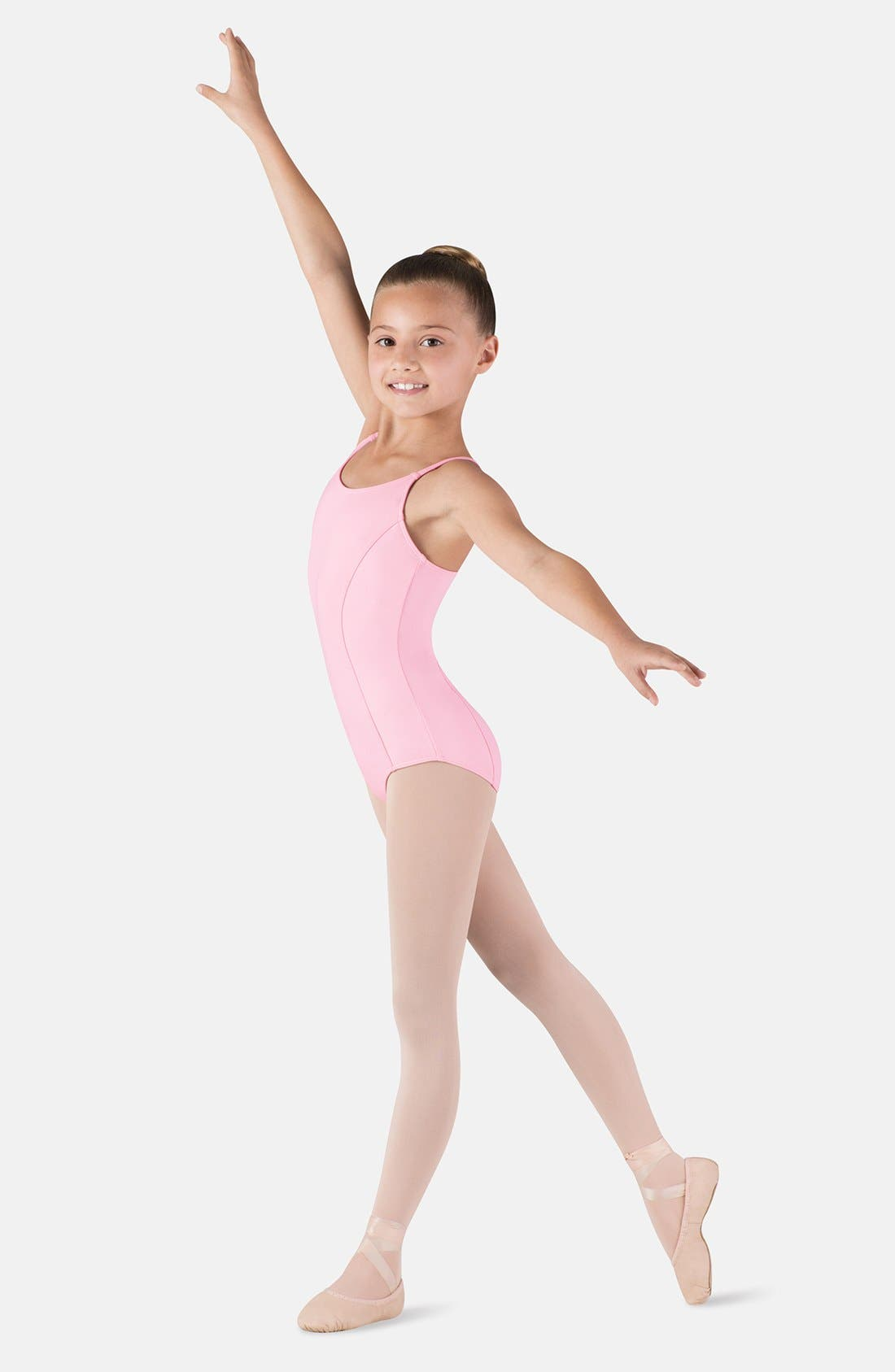 Alternate Image 1 Selected - Bloch Seamed Camisole Leotard (Little Girls & Big Girls)