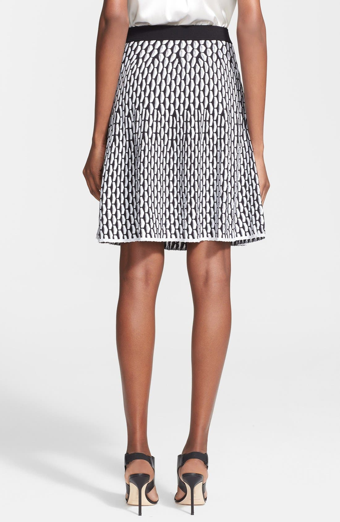 Alternate Image 2  - M Missoni Fan Stitch Flared Skirt