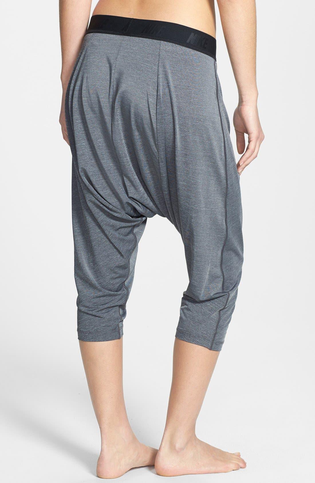 Alternate Image 2  - Nike 'Tadasana' Dri-FIT Training Harem Capri Pants