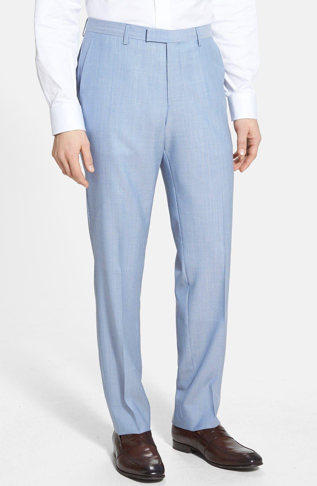 Alternate Image 4  - BOSS HUGO BOSS 'James/Sharp' Trim Fit Virgin Wool Suit
