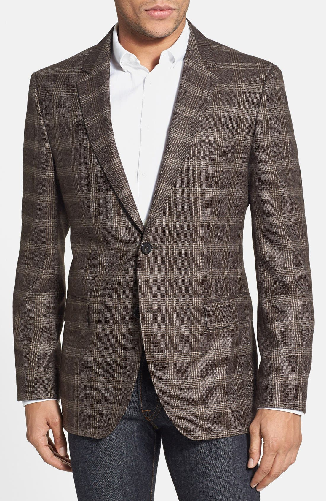 Alternate Image 1 Selected - BOSS HUGO BOSS 'The James' Trim Fit Plaid Sportcoat