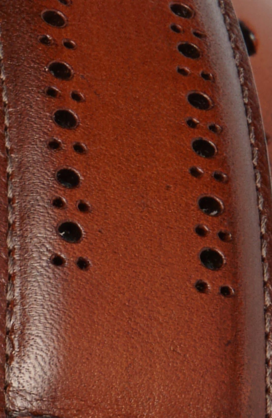 Alternate Image 2  - Allen Edmonds Manistee Brogue Leather Belt