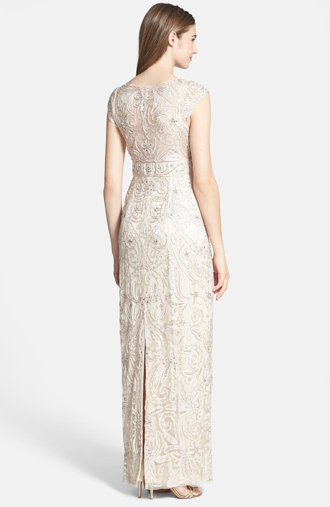 Alternate Image 2  - Sue Wong Embellished Tulle Column Gown