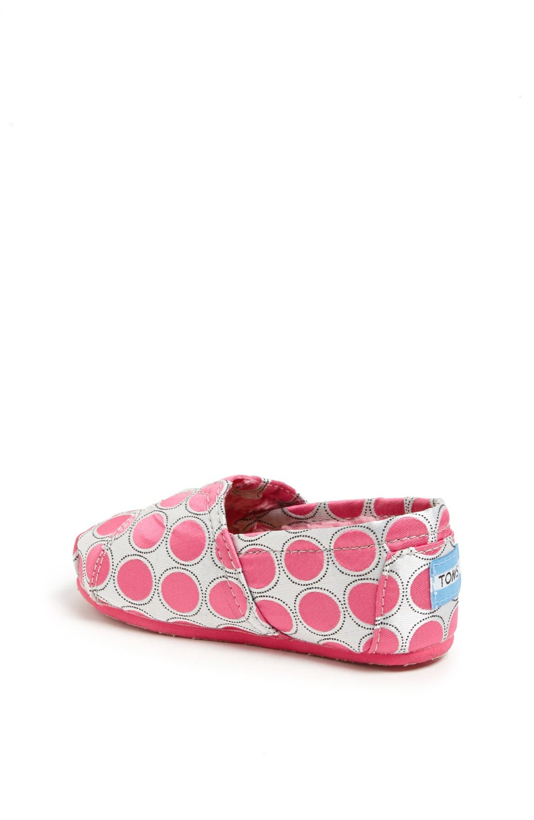 Alternate Image 2  - TOMS 'Classic - Tiny' Polka Dot Slip-On (Baby, Walker & Toddler)