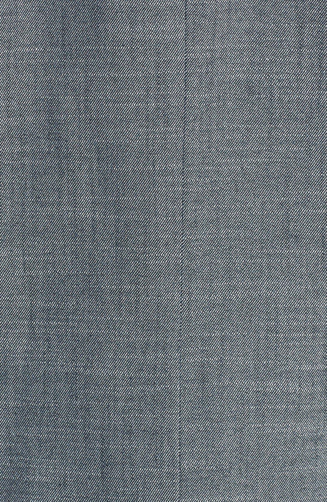 Alternate Image 3  - Halogen® 'Indigo Crosshatch' Single-Button Suit Jacket
