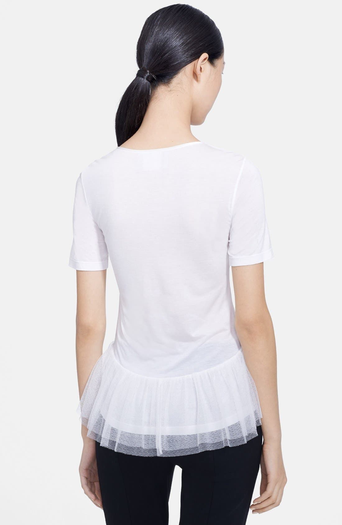 Alternate Image 2  - Jason Wu Lace Inset Peplum Tee