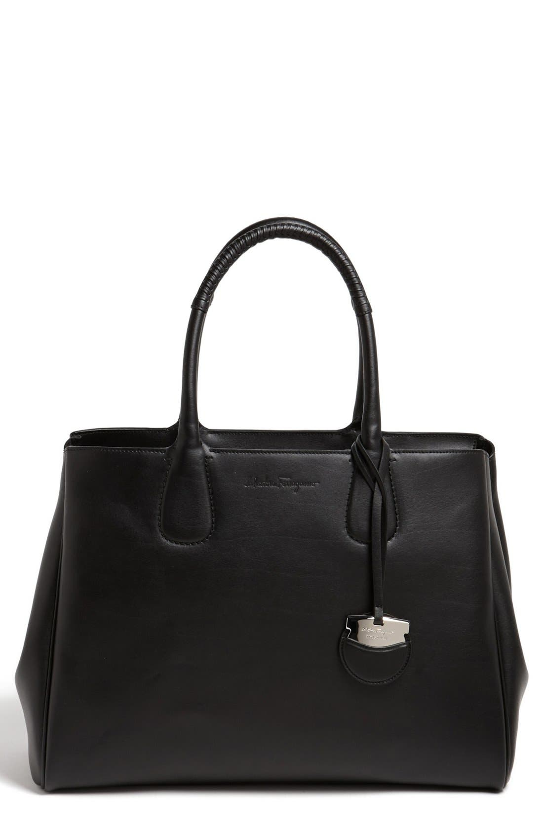 Alternate Image 1 Selected - Salvatore Ferragamo 'Large Nolita' Calfskin Tote