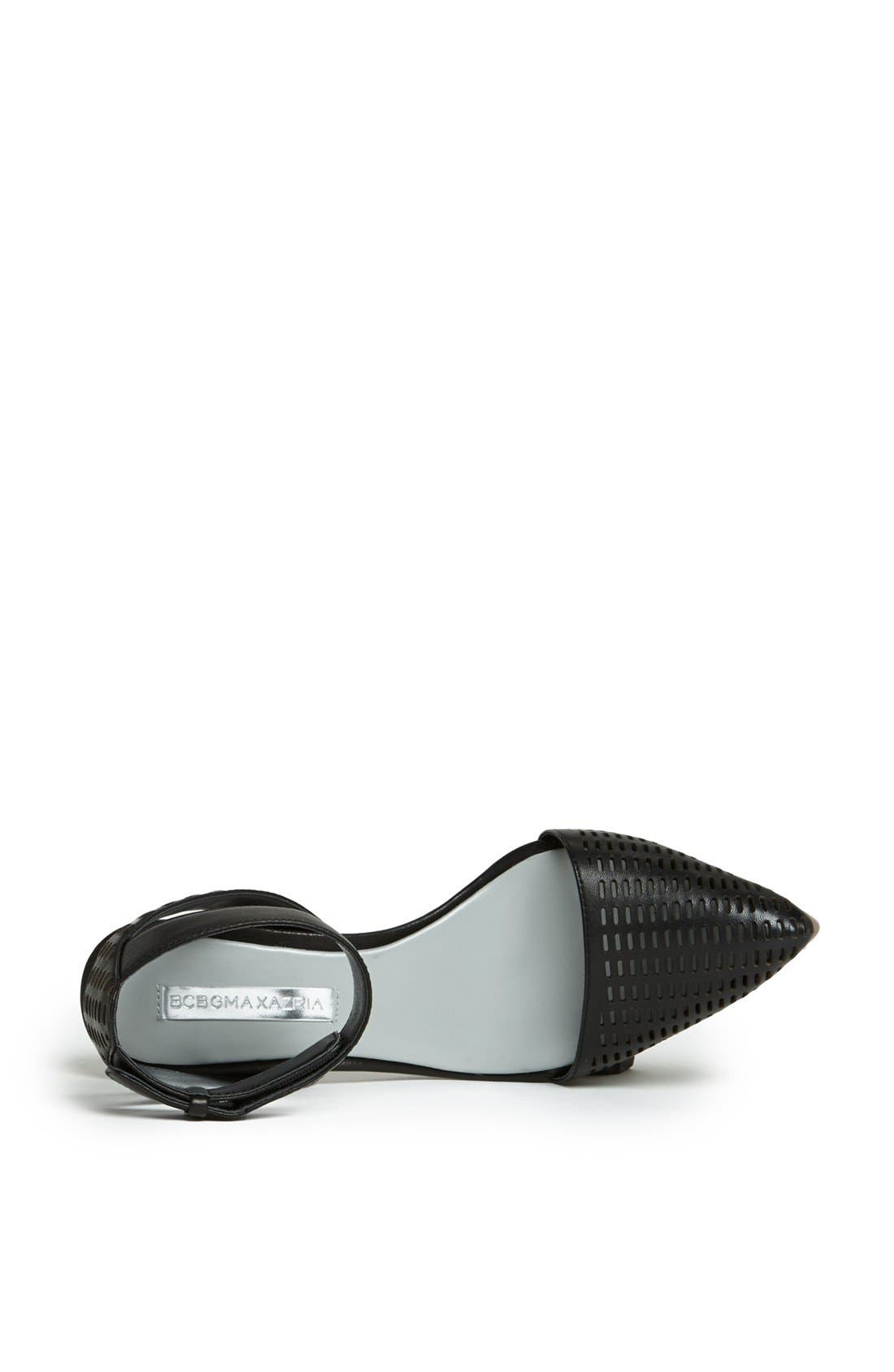 Alternate Image 4  - BCBGMAXAZRIA 'Coll' Perforated Leather Ankle Strap Sandal