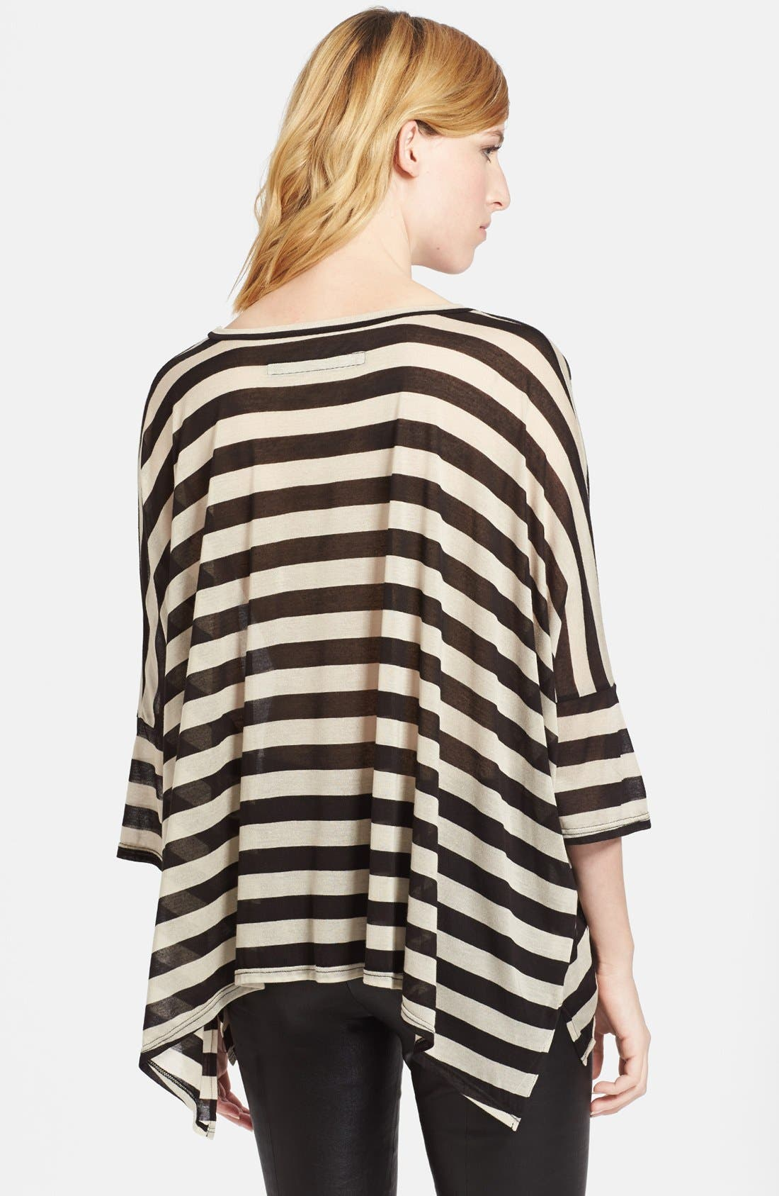 Alternate Image 2  - Enza Costa Stripe Oversized Jersey Tee