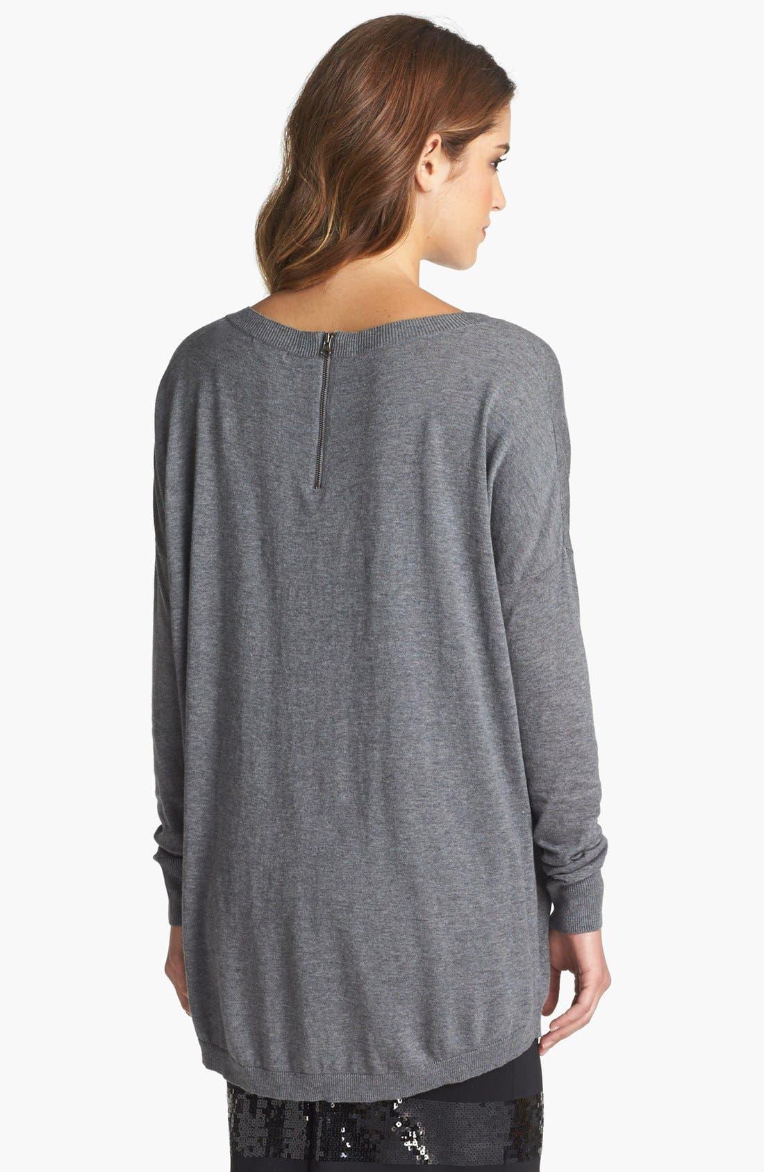 Alternate Image 2  - Halogen® High/Low Tunic Sweater (Petite)
