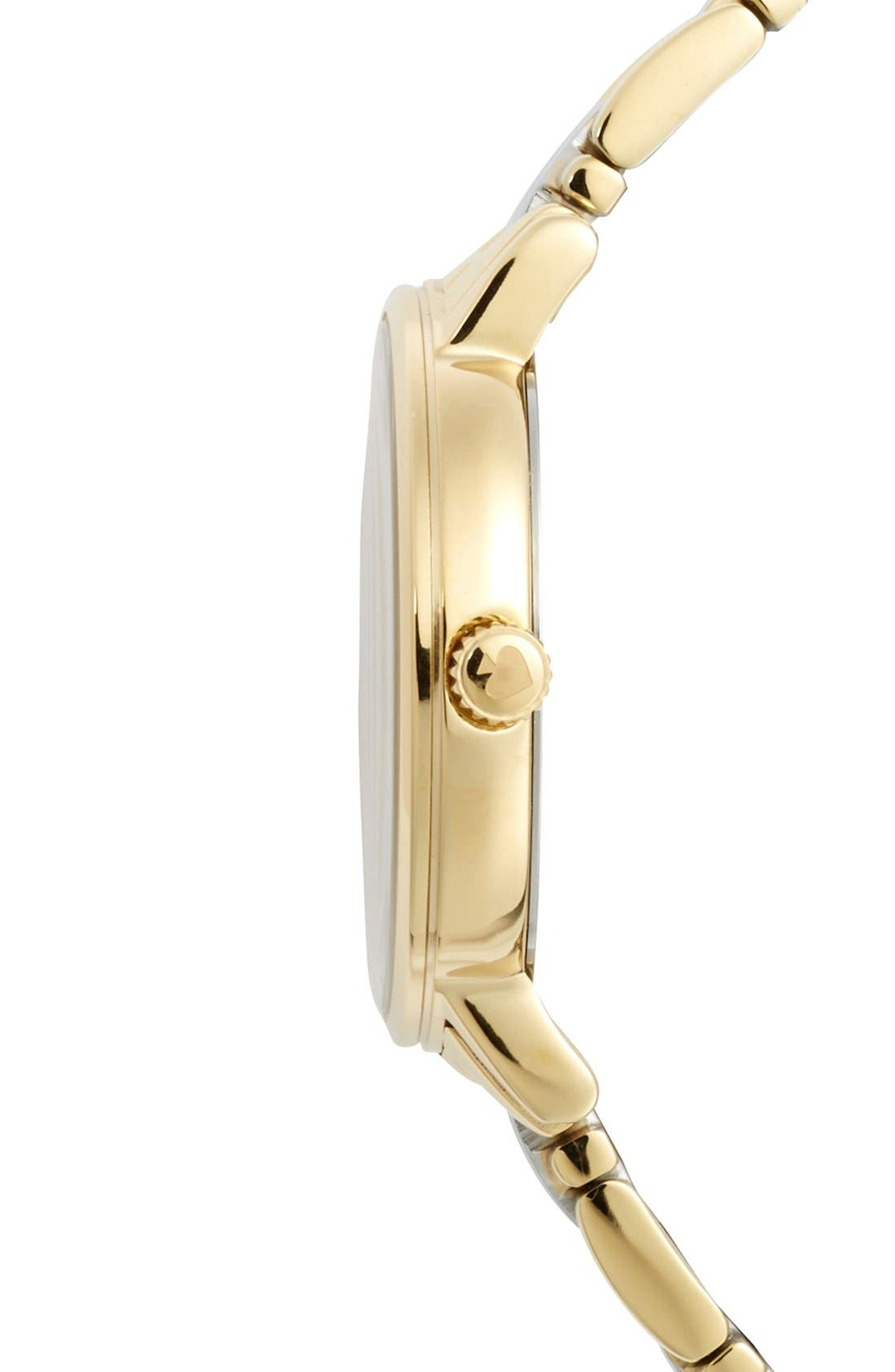 Alternate Image 3  - kate spade new york 'gramercy' round bracelet watch, 34mm
