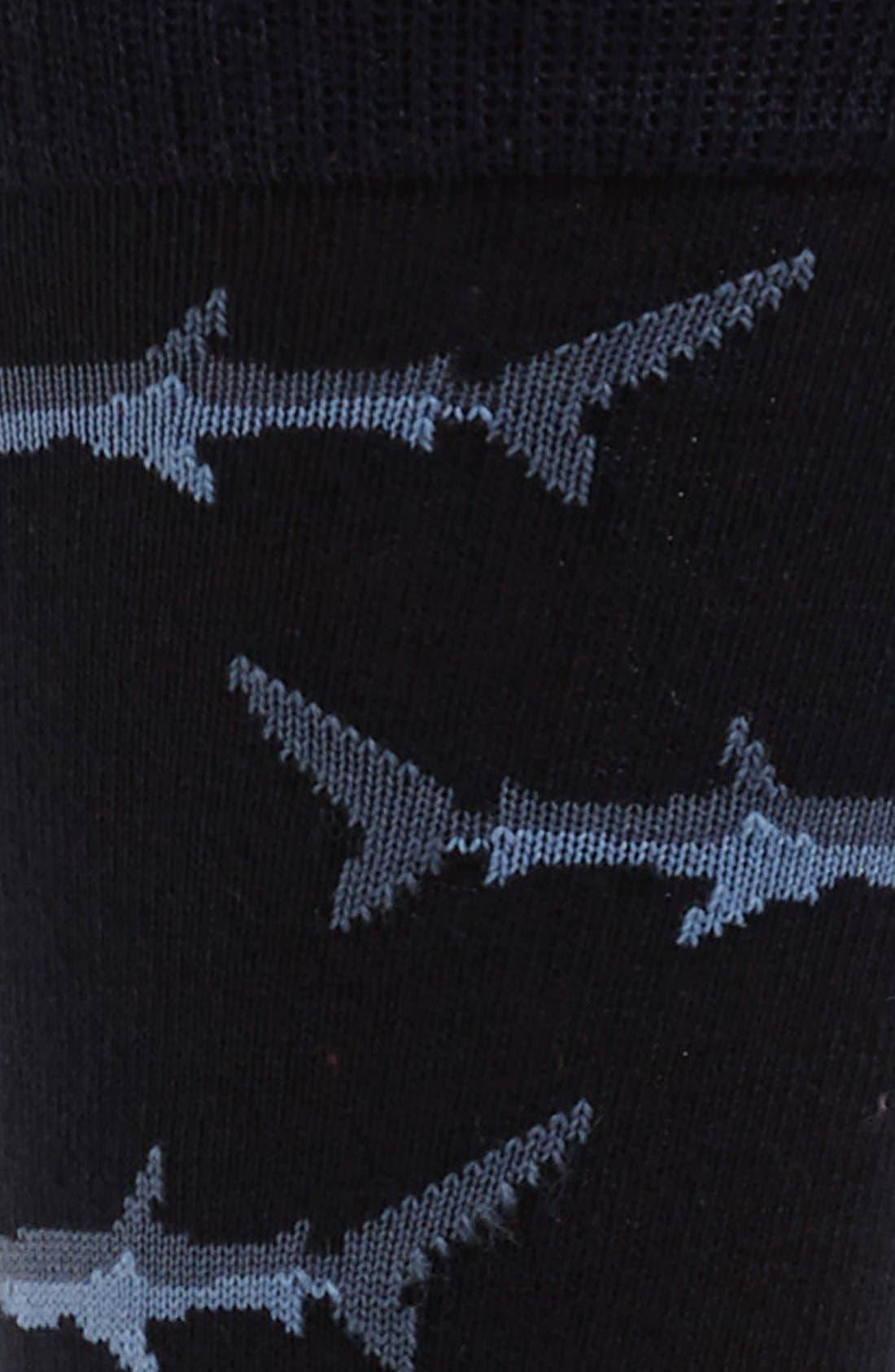 Alternate Image 2  - Topman Shark Pattern Socks