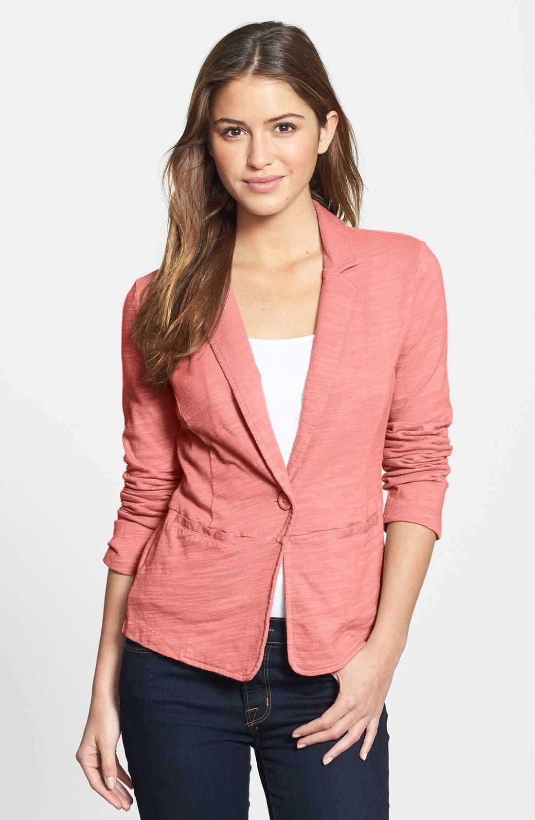 Alternate Image 1 Selected - Caslon® Single-Button Cotton Jacket