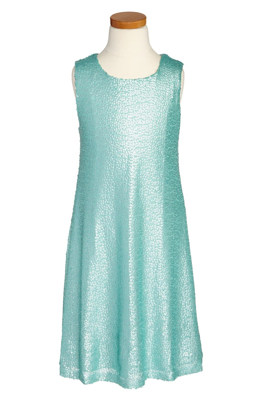 Alternate Image 1 Selected - Zunie Sequin Tank Dress (Big Girls)