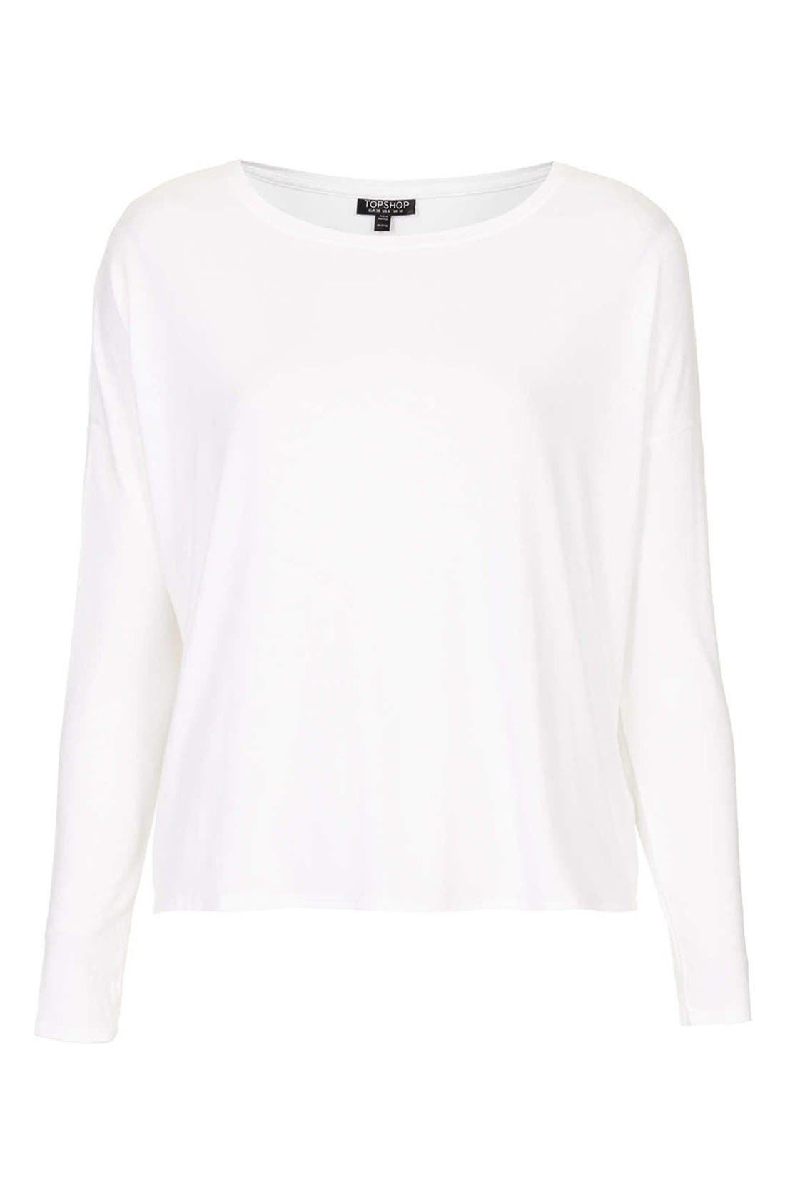 Alternate Image 3  - Topshop Long Sleeve Crepe Top