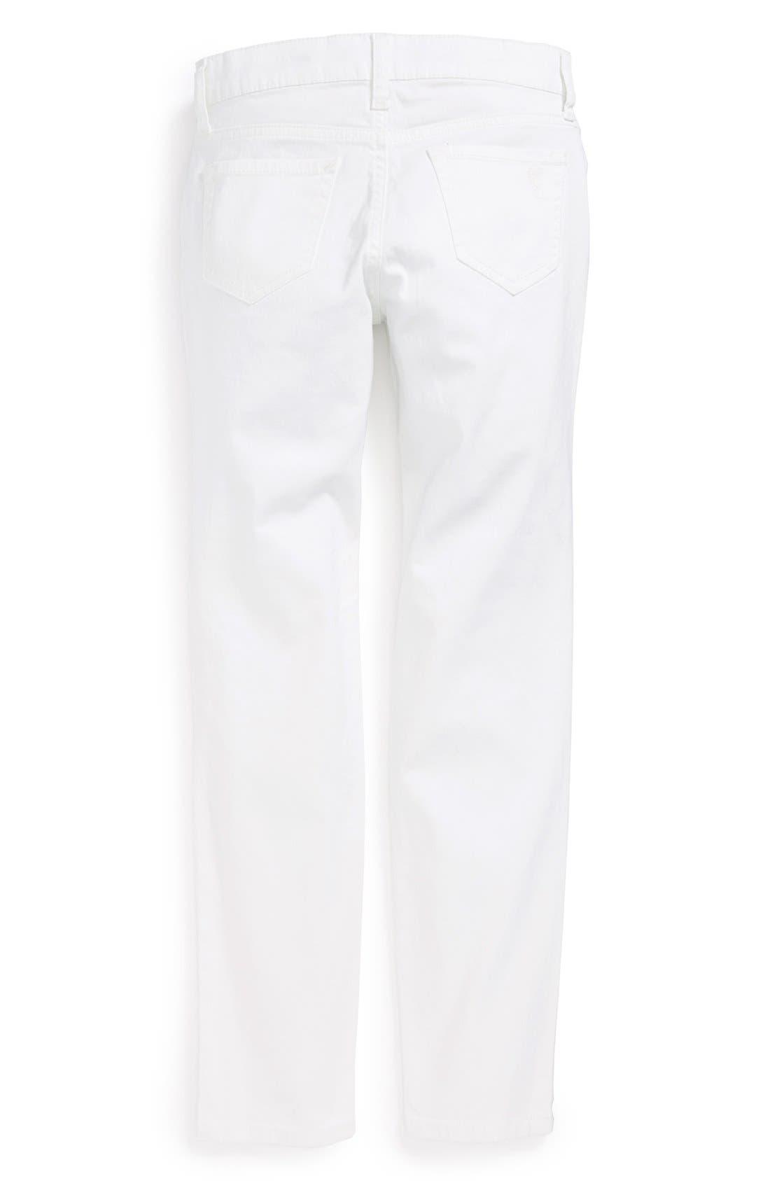 Alternate Image 1 Selected - Jessica Simpson 'Kiss Me' Skinny Jeans (Big Girls)