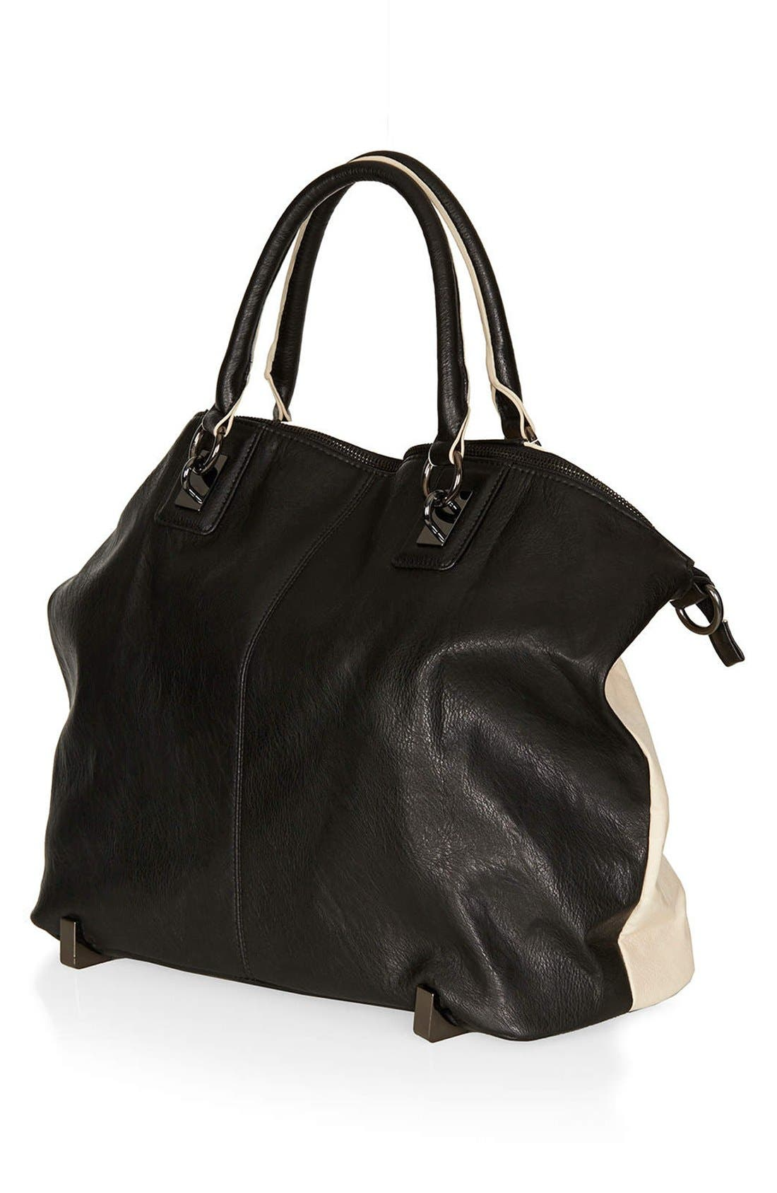 Alternate Image 4  - Topshop Faux Leather Tote