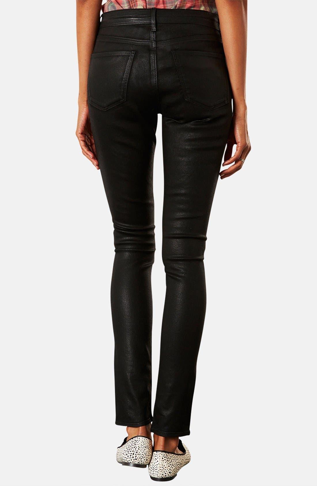 Alternate Image 2  - Topshop Moto 'Leigh' Coated Skinny Jeans (Petite)