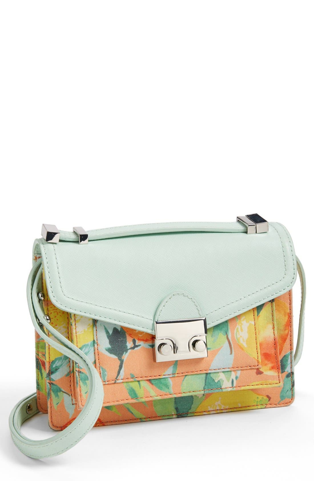 Alternate Image 1 Selected - Loeffler Randall 'Rider - Mini' Leather Crossbody Bag