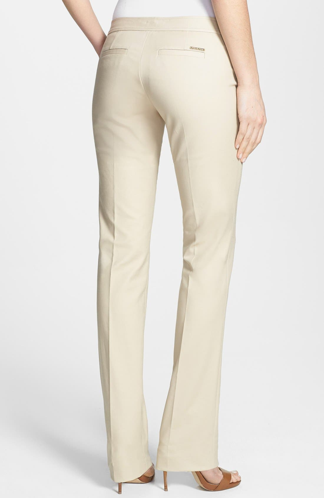 Alternate Image 2  - MICHAEL Michael Kors 'Sexy' Hardware Detail Stretch Cotton Pants