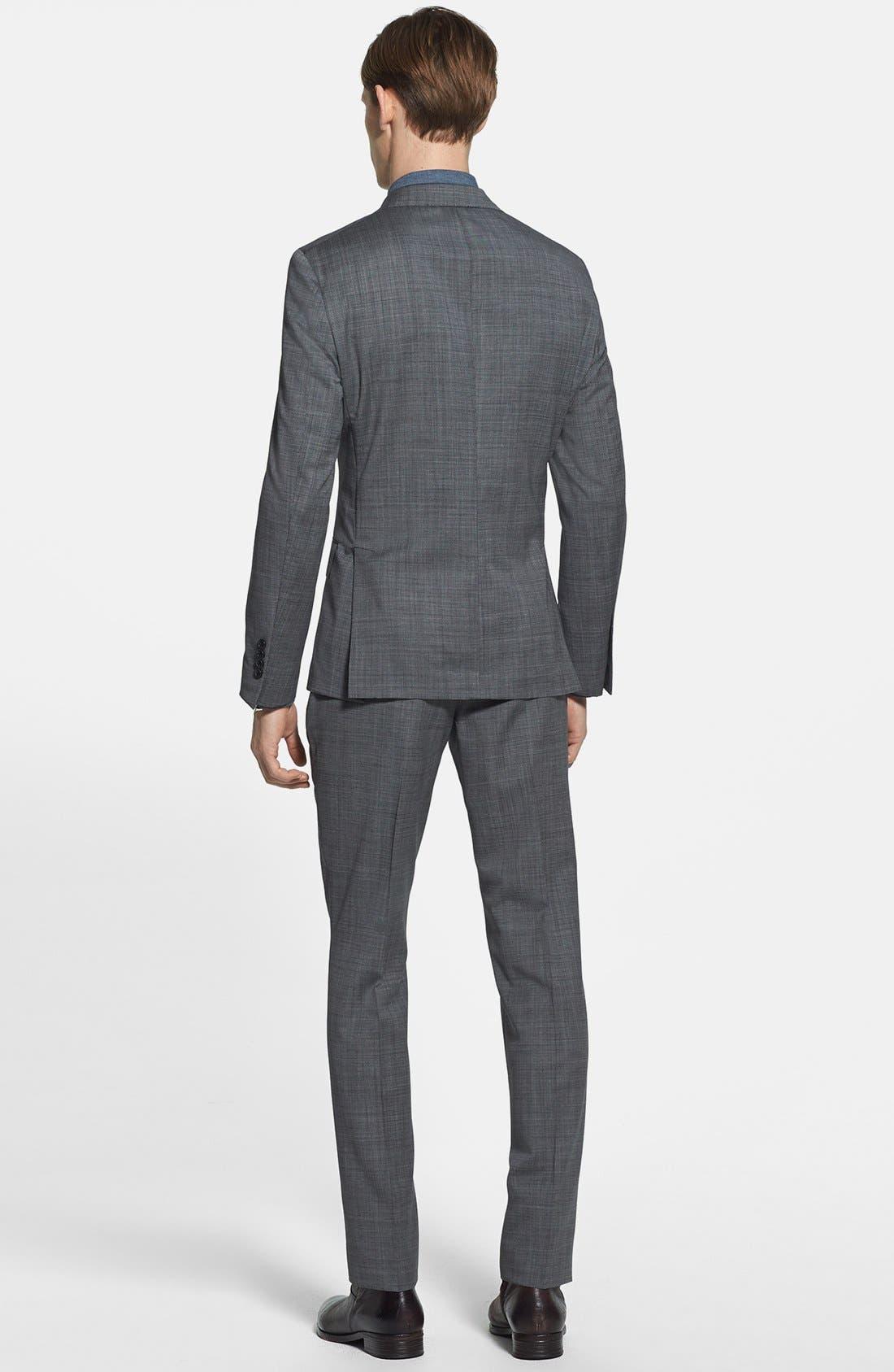 Alternate Image 2  - Todd Snyder Grey Wool Suit