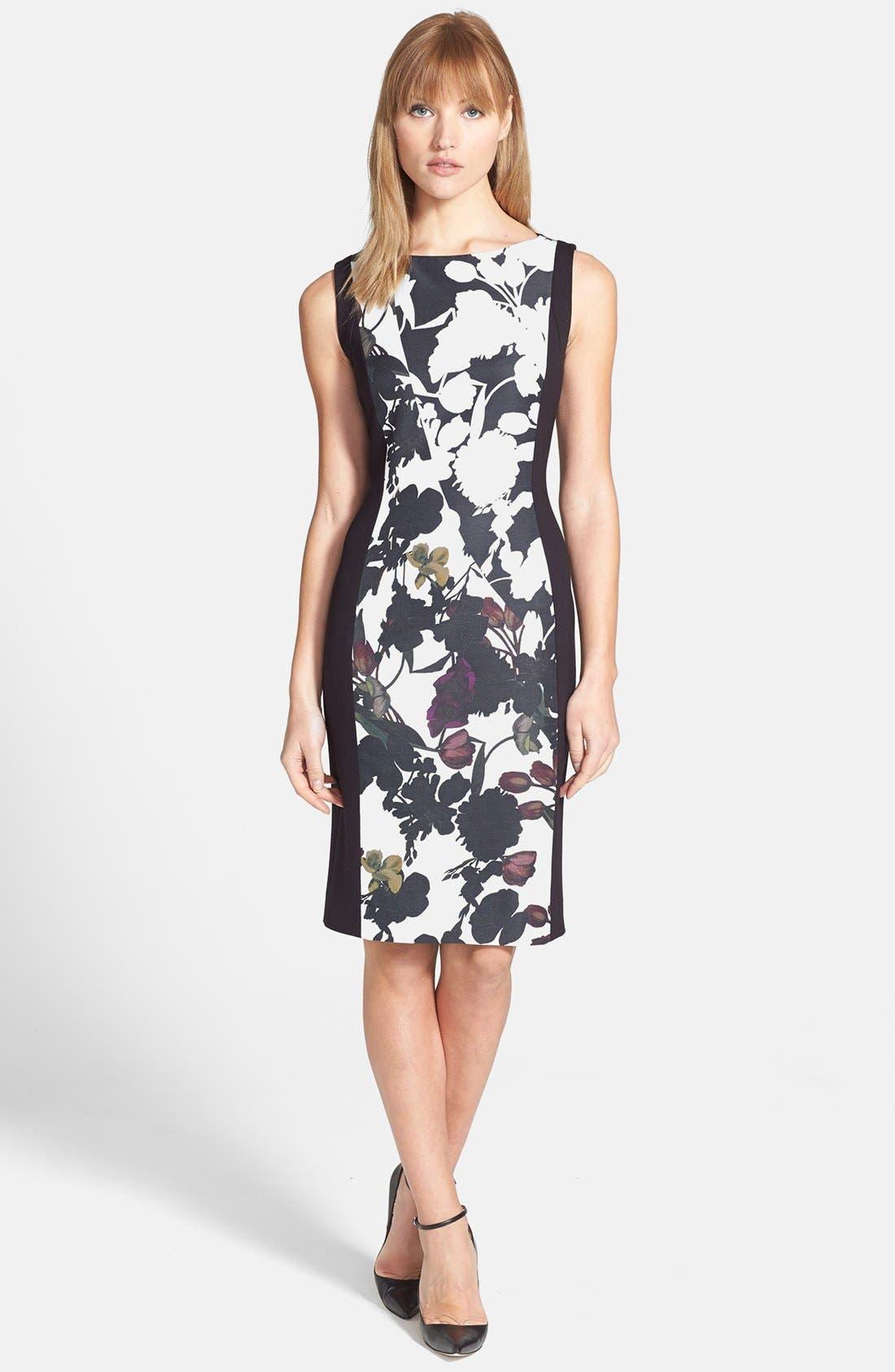 Alternate Image 1 Selected - Classiques Entier® Faille & Ponte Dress
