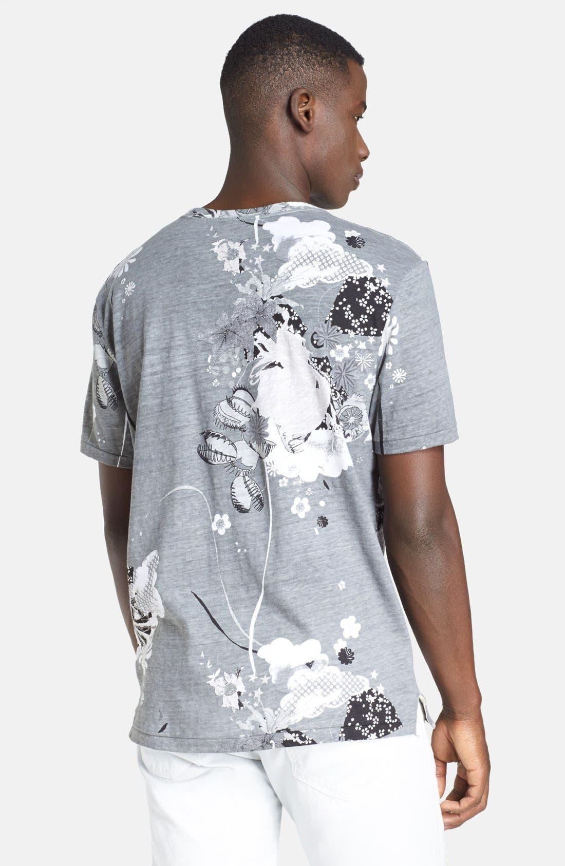 Alternate Image 2  - rag & bone 'Leo' Allover Print Crewneck T-Shirt