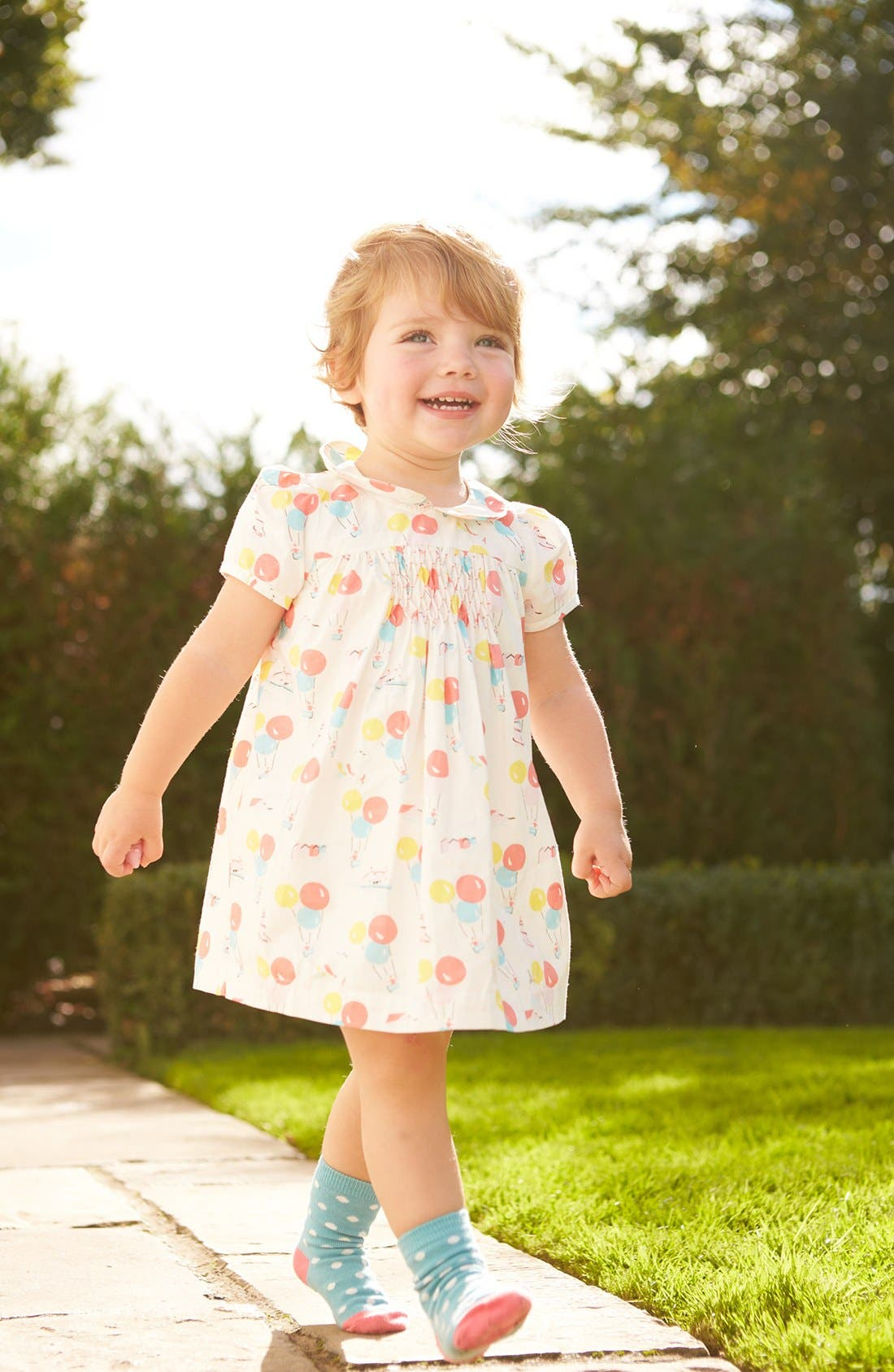 Alternate Image 2  - Mini Boden 'Pretty Printed' Tea Dress (Baby Girls)