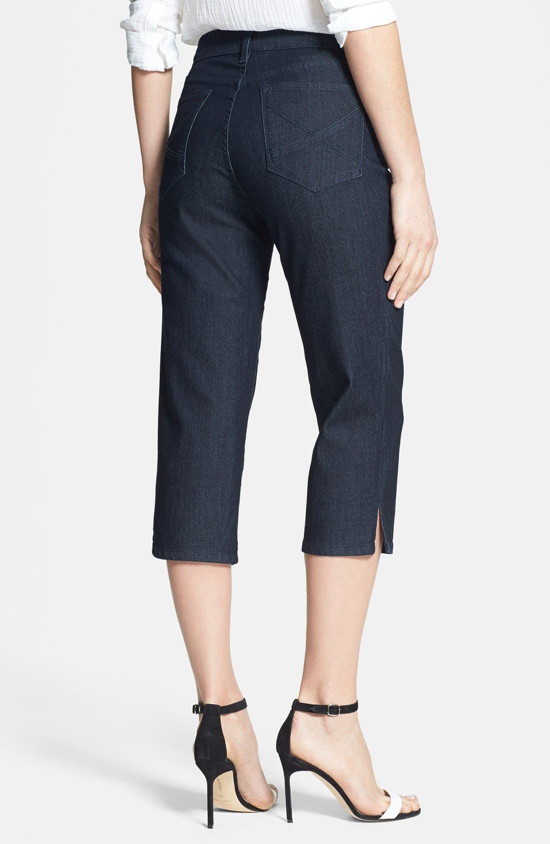 Alternate Image 2  - NYDJ 'Hayden' Stretch Denim Crop Jeans (Dark Enzyme) (Petite)