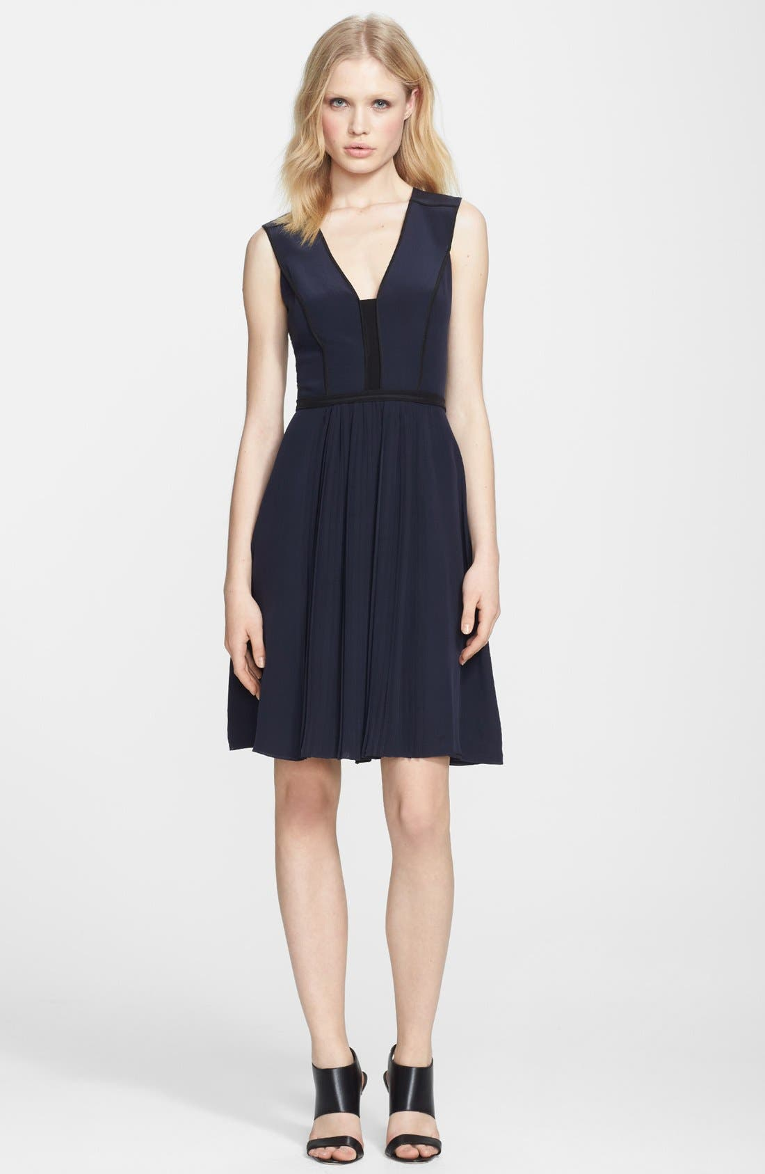 Alternate Image 1 Selected - Victoria, Victoria Beckham Silk Crêpe de Chine Dress
