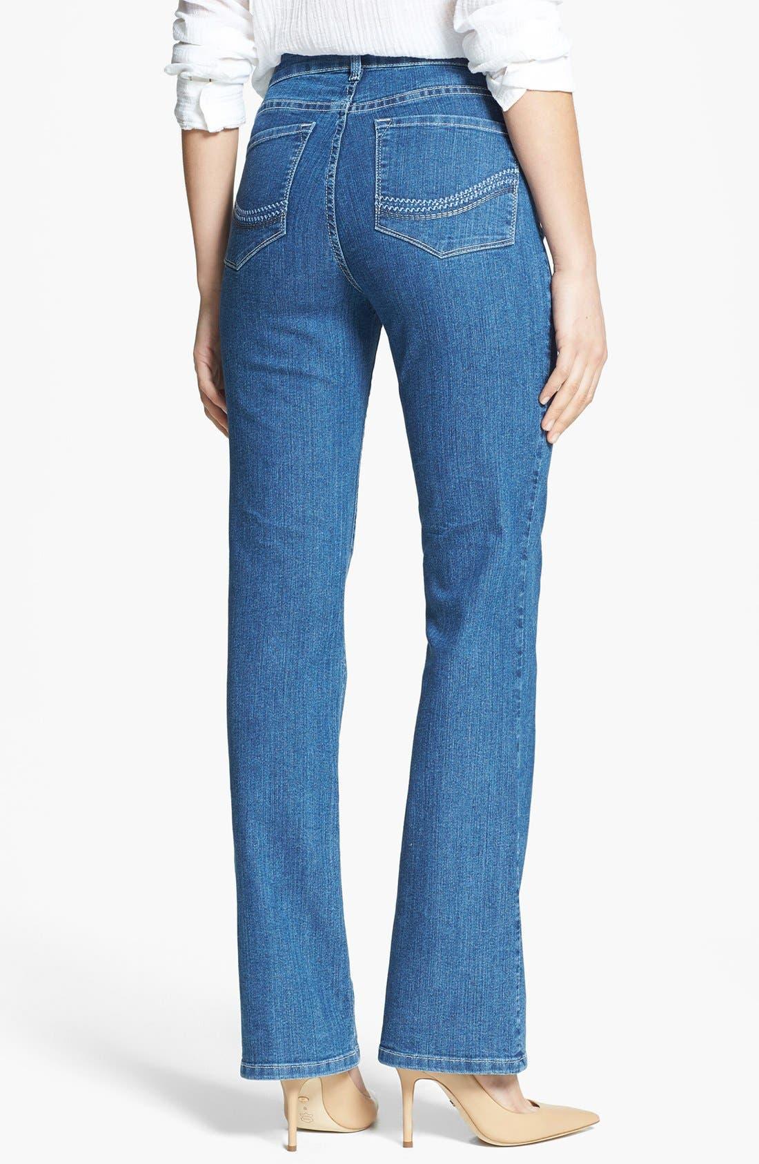Alternate Image 2  - NYDJ 'Barbara' Embellished Pocket Stretch Bootcut Jeans (Maryland)