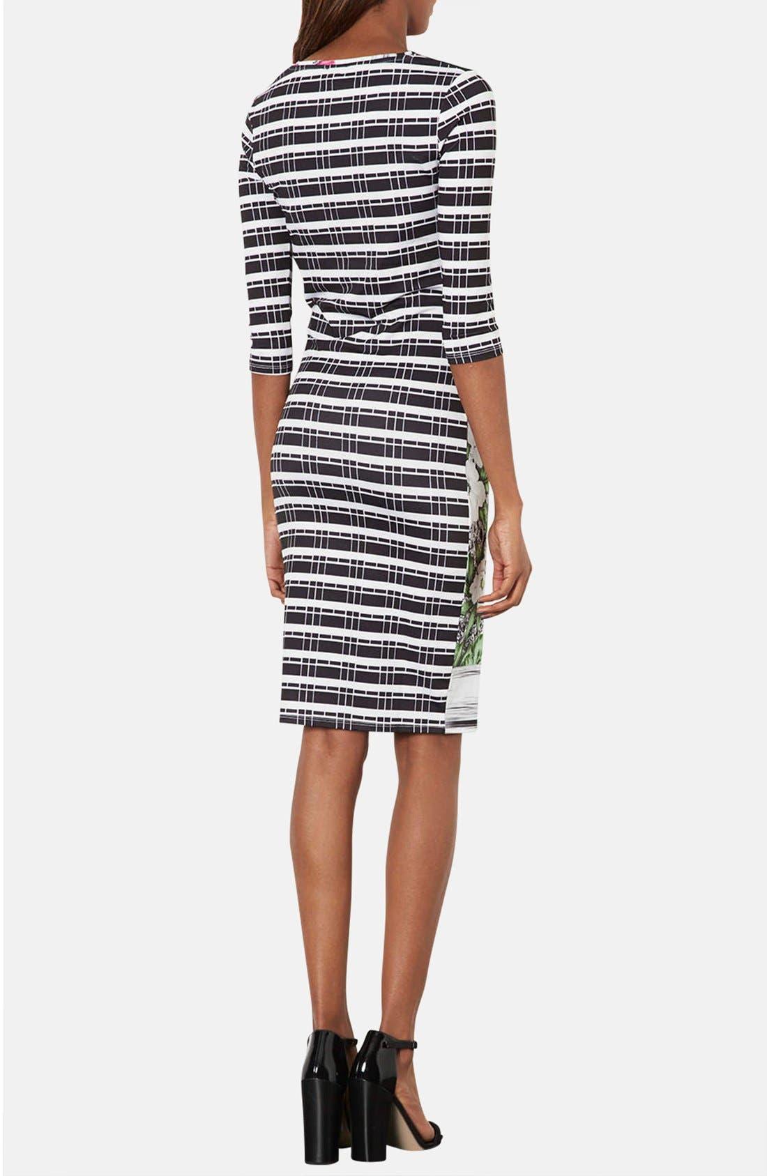 Alternate Image 2  - Topshop 'Ahola Check' Print Jersey Body-Con Dress