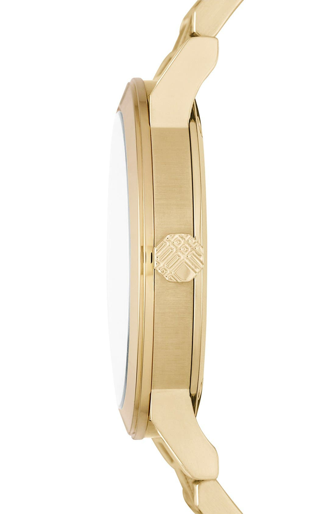 Alternate Image 4  - Burberry Check Stamped Chronograph Bracelet Watch, 38mm