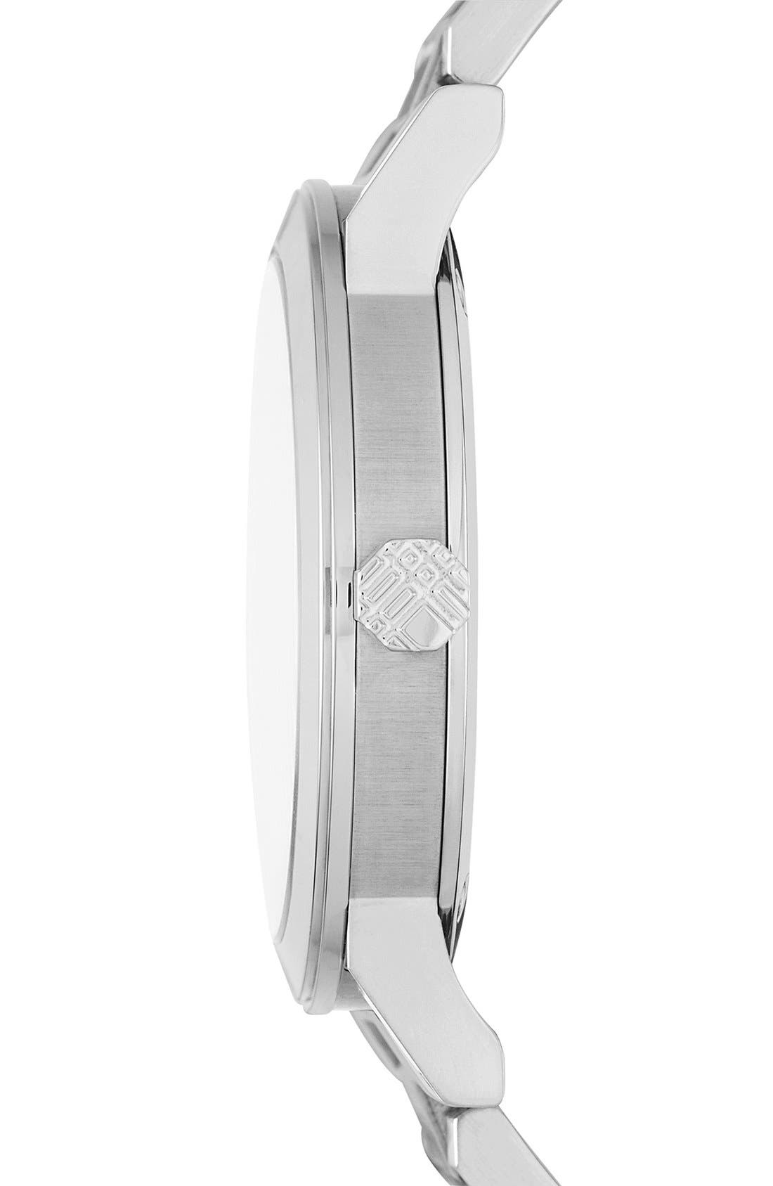Alternate Image 4  - Burberry Check Stamped Automatic Bracelet Watch, 38mm
