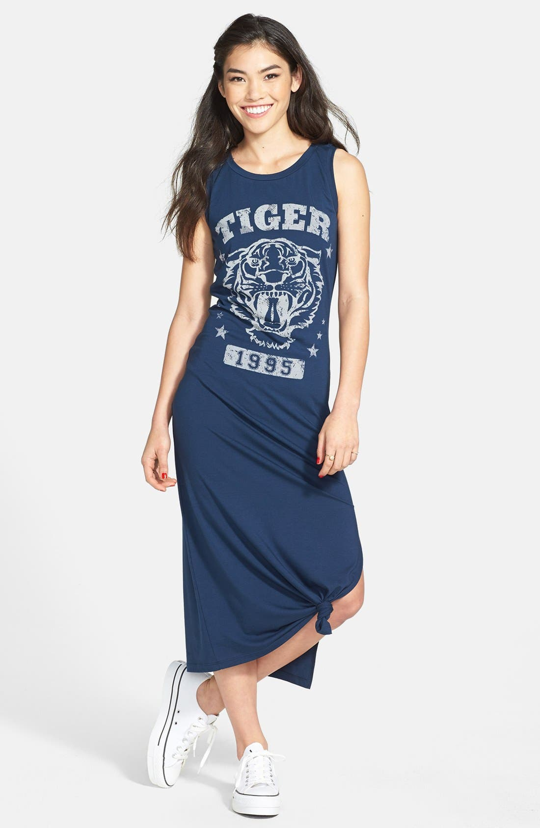 Alternate Image 1 Selected - Soprano 'Bayside' Maxi Tank Dress (Juniors) (Online Only)