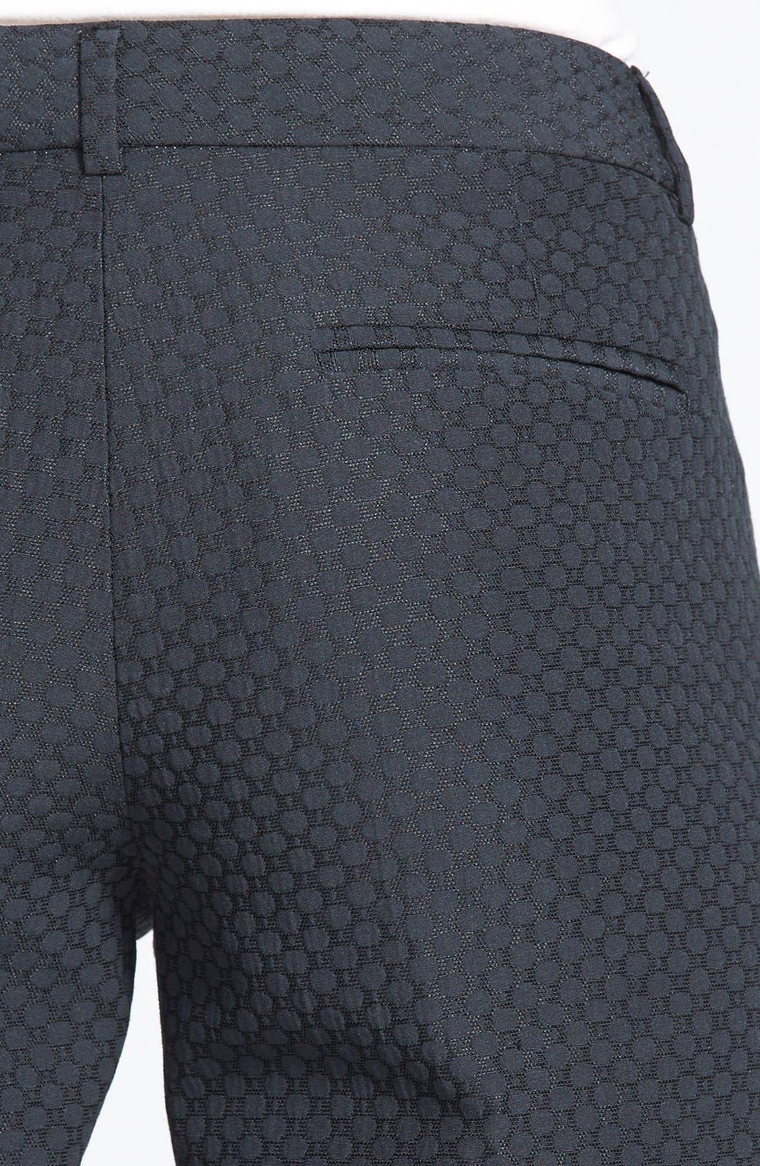Alternate Image 3  - Chelsea28 Slim Jacquard Crop Pants